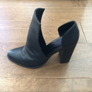Freda Salvador Open Ankle Black Leather Boots